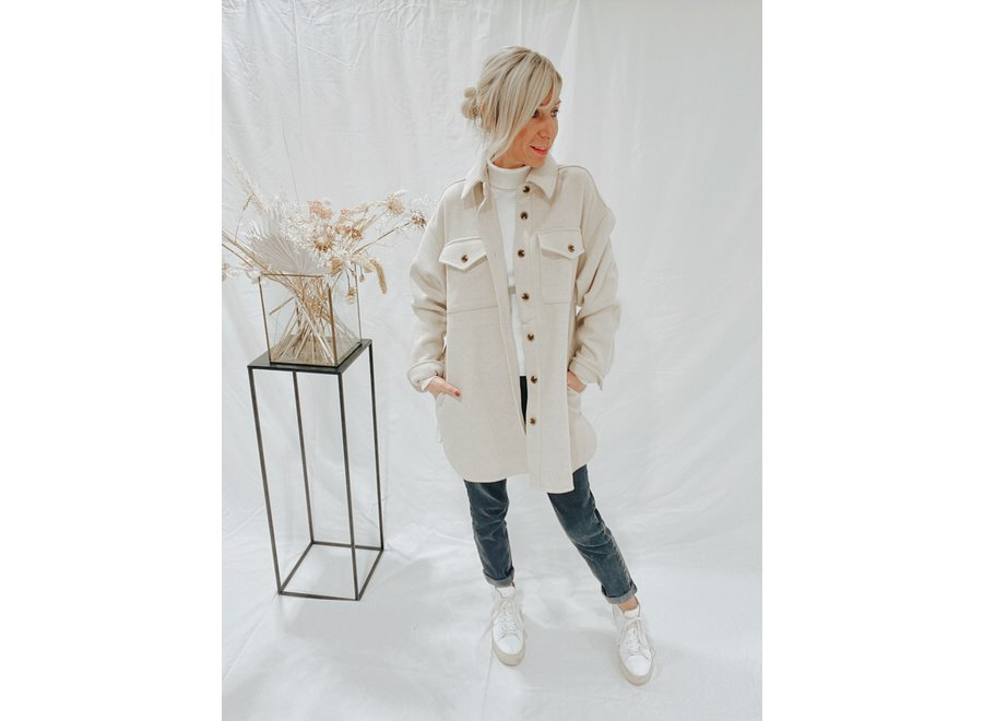 Rizzo Gavin Jacket Color Oyster Moon