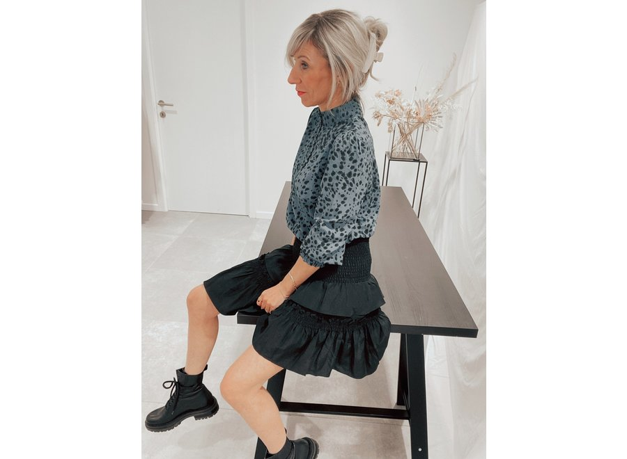 Keeva Smock Skirt Color Black