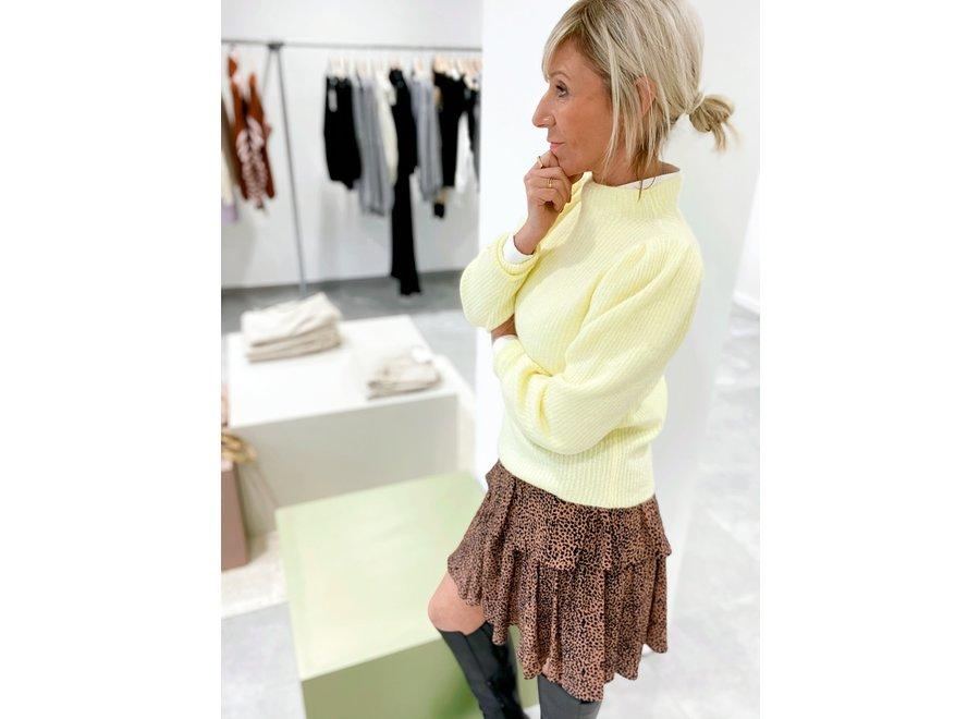 Lipa Knit Longsleeve T-Neck Color Yellow