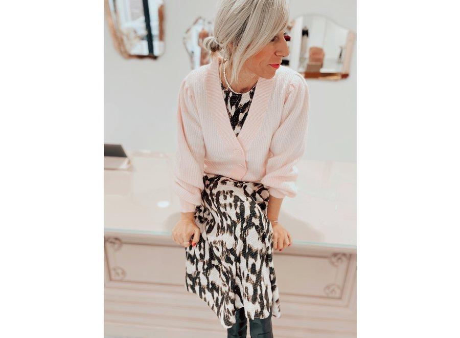 Lipa Knit Short Cardigan Color Blushing Bride