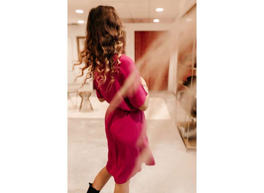 Amanda Dress Color Fuchsia Red