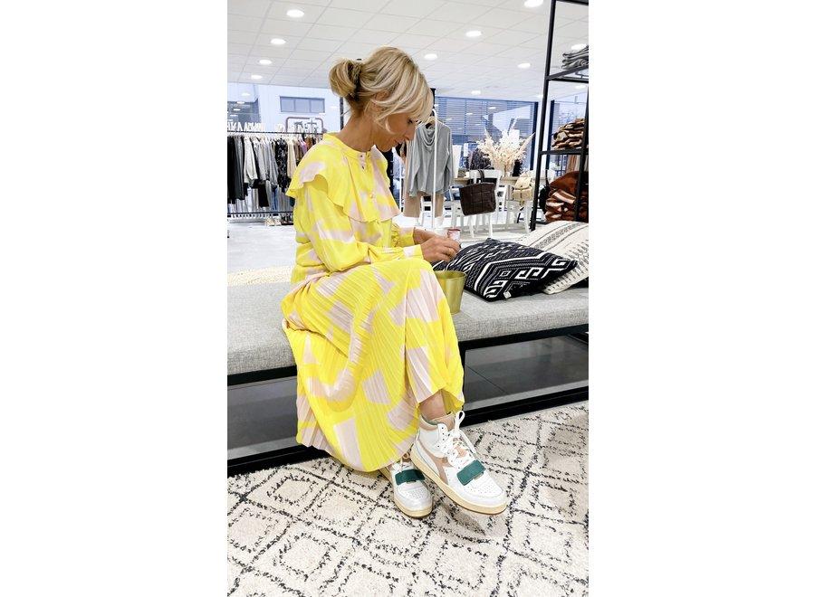 Alexis Midi Skirt Color Green Sheen