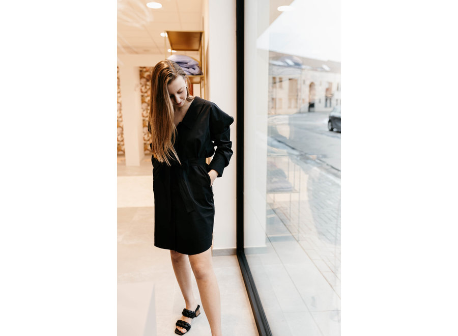 Jilan Shirt Dress Color Black