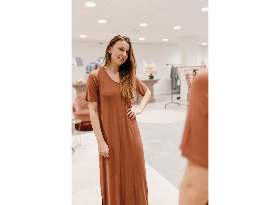 Berti Gogreen Luxe Dress Color Cedar Wood