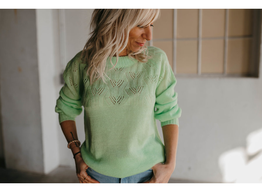 Laurel Pull Color Paradie Green