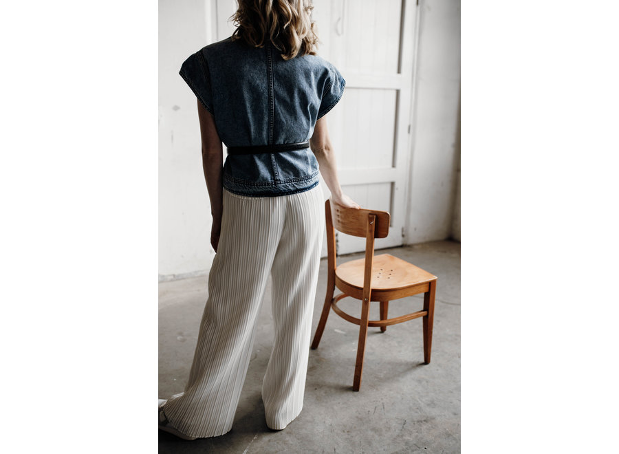 Kelly Wide Pant Color White