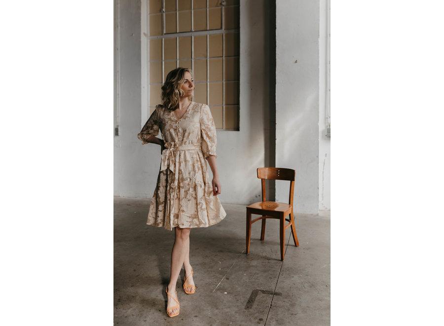 Sadie Short Dress Color Sandshell
