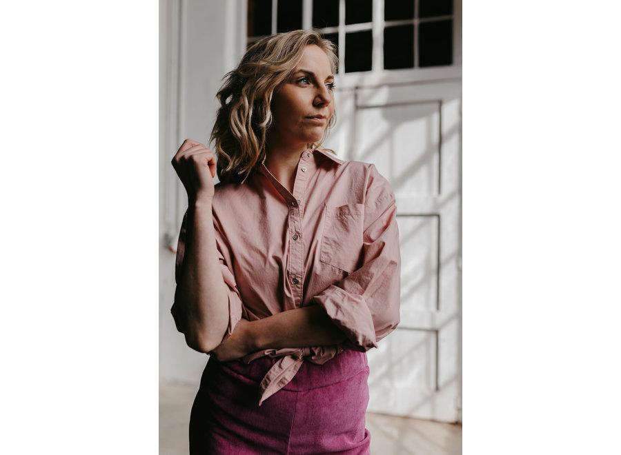 Corolis oversized shirt pink
