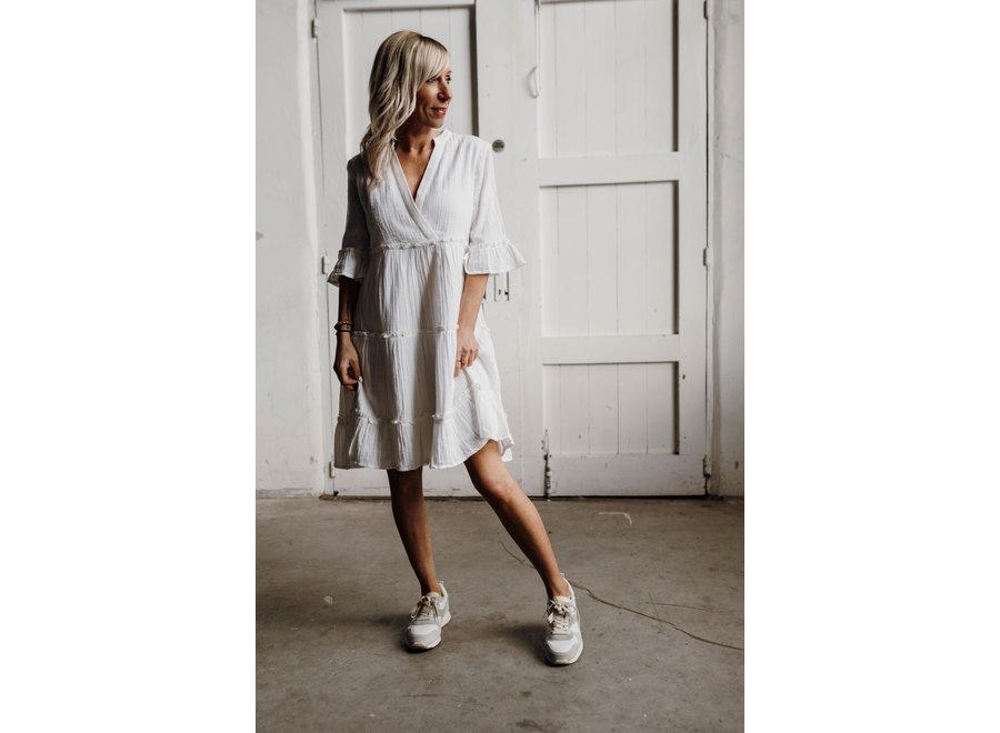 Lima Short Dress Color White