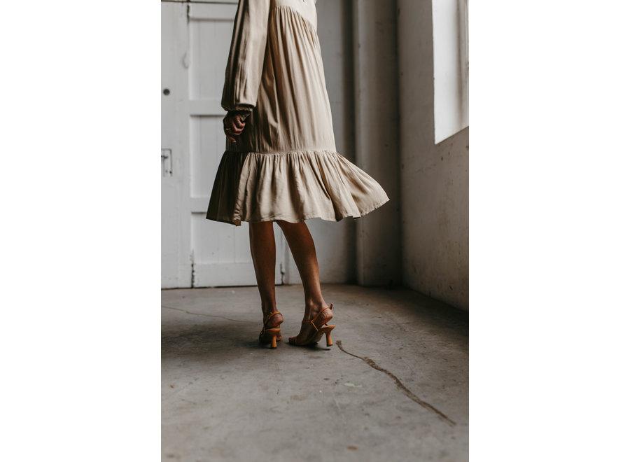 Rotilla Short Dress Color Chinchilla