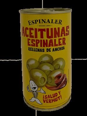 Espinaler Espinaler Aceitunas Rellenas de Anchoa 350g