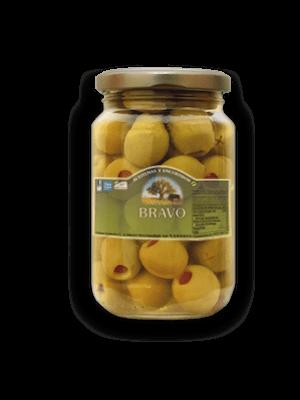 Bravo Bravo Oliven mit Paprika gefüllt