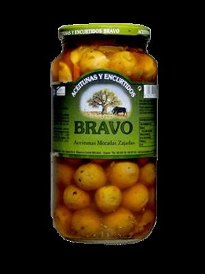 Bravo Bravo aceitunas moradas sajadas