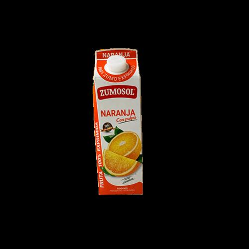 Zumosol Zumosol 100% Fruchtsaft Orange MIT Fruchtfleisch 1l