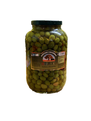Bravo Bravo aceitunas chupadedos en aceite de oliva - Galón 2.4kg