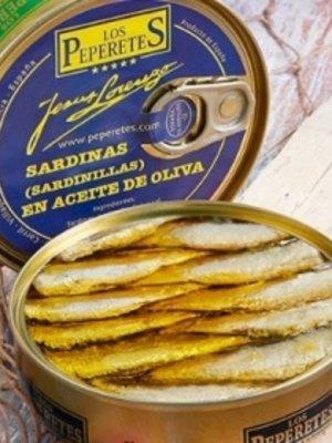 Peperetes Los Peperetes Sardinillas (kleine Sardinen) in Olivenöl SCHARF 120g