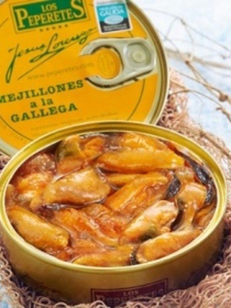 """Peperetes Los Peperetes Miesmuscheln """"Mejillones a la Gallega"""" 120g"""