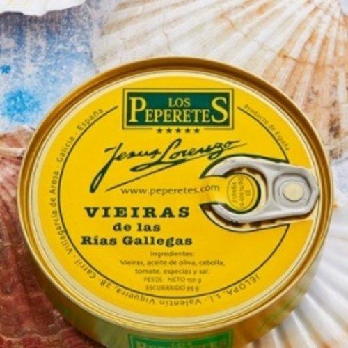 Peperetes Los Peperetes Pilgermuscheln (Vieiras) nach galizischer Art 120g