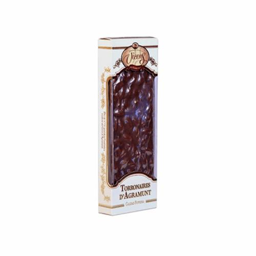 Vicens Turrón Chocolate Leche Almendra Gourmet 500g