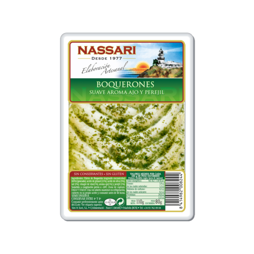Nassari Boquerones mit Knoblauch und Petersilie 80g
