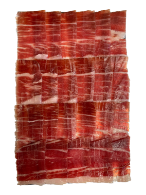 La Hoja del Carrasco Jamón Ibérico 100% de Bellota, 90g corte al cuchillo