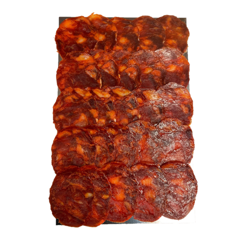 La Hoja del Carrasco Chorizo 100% Ibérico de Bellota, 100g loncheado