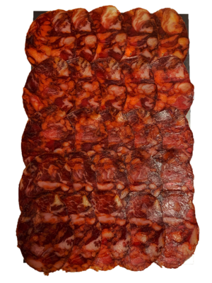 Señorio de la Fernandina Chorizo 50% Ibérico Bellota, 100g geschnitten