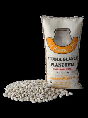 """Legumbres Montes Weisse Bohnen """"Alubia Blanca Plancheta"""", 1kg"""