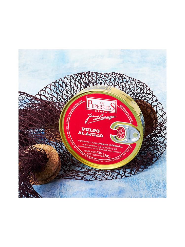 Peperetes Los Peperetes Pulpo (Krake) mit Knoblauch 120g