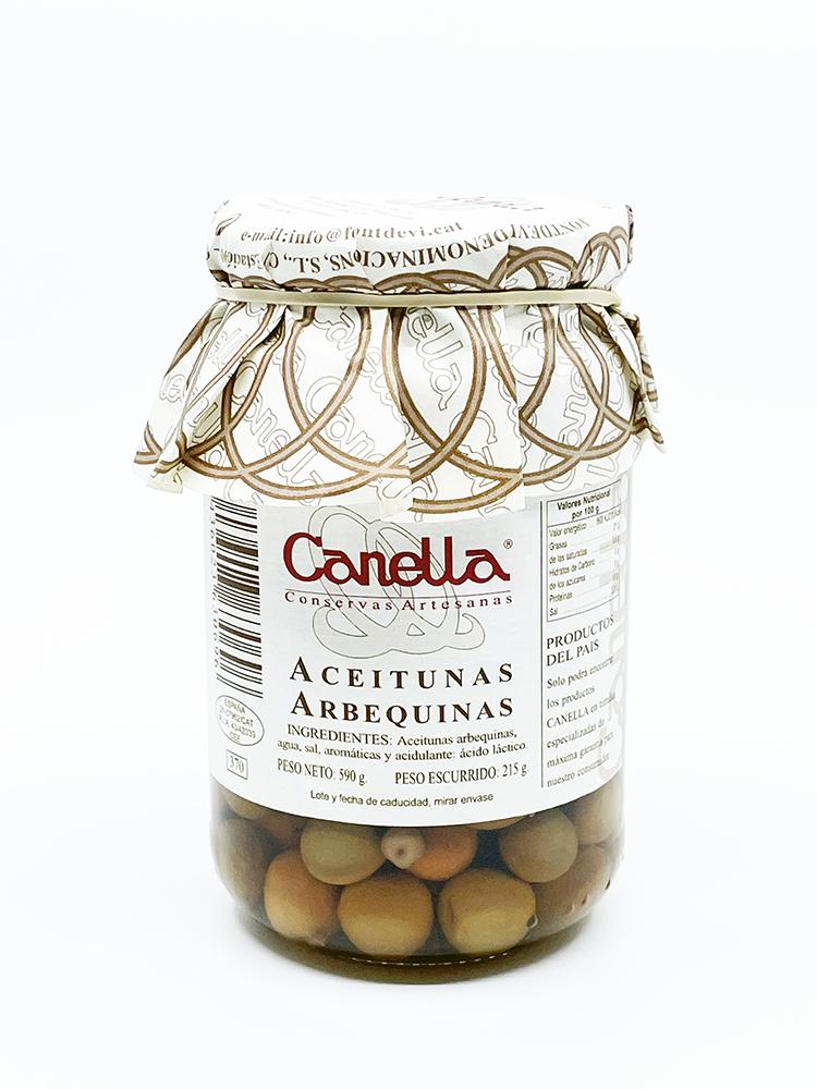 Canella Arbequina Oliven 215g