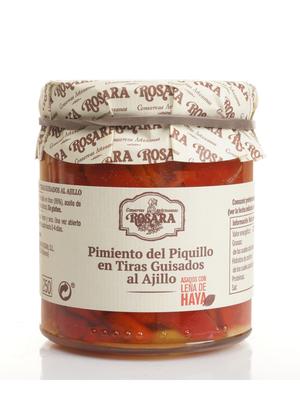 Rosara Rosara Piquillo Paprika in Streifen mit Knoblauch 200g
