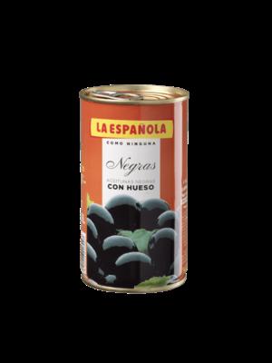 La Española Schwarze Oliven mit Stein 185g