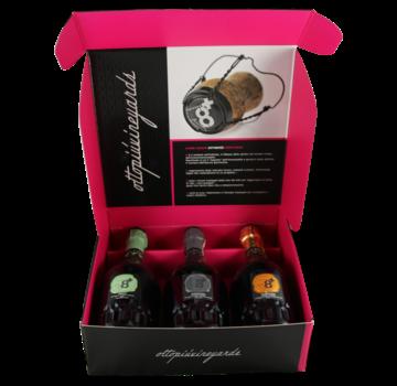 V8+ Vineyards 3 flessen V8+ Prosecco in luxe geschenkdoos