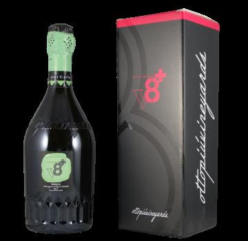 V8+ Vineyards Sior Carlo Prosecco Brut Millesimato DOC in geschenkdoos