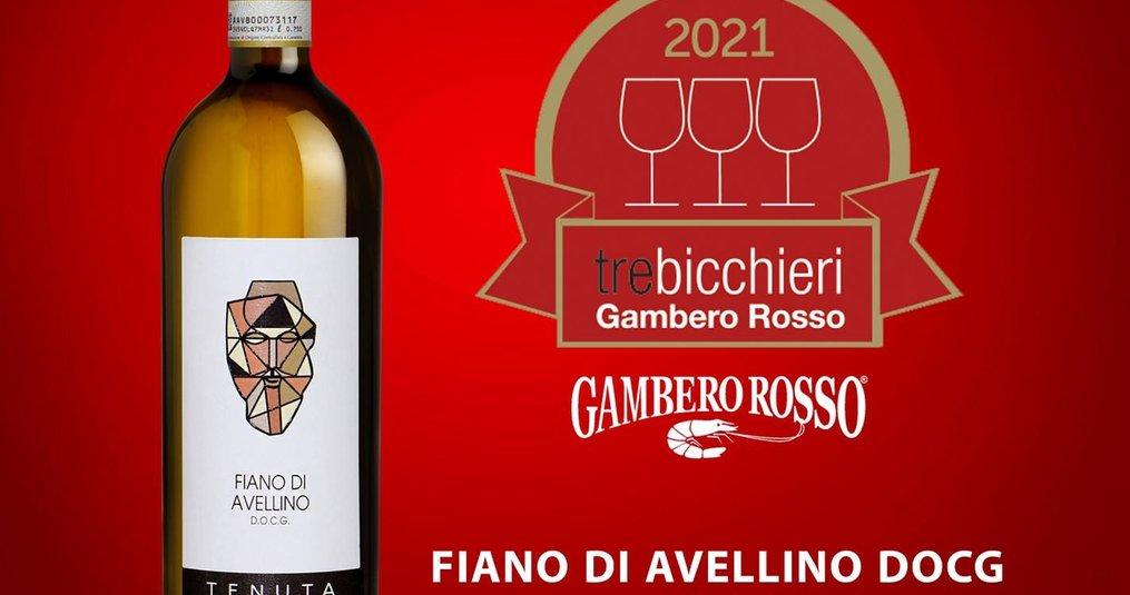 Fiano di Avellino DOCG 2019 van Tenuta Scuotto krijgt 3 glaasjes in de Gambero Rosso