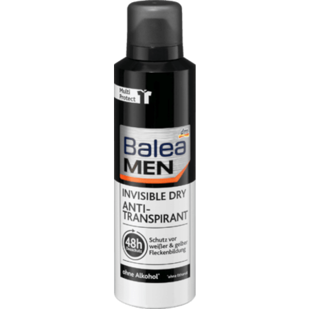 Balea MEN Balea MEN Deo Spray Deodorant Anti-Transpirant Invisible Dry 200 ml