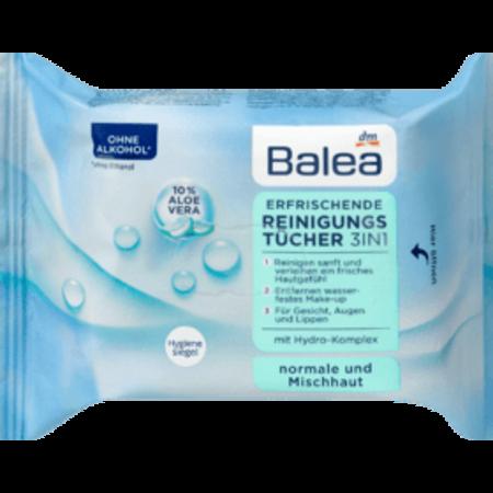 Balea Balea Verfrissende Reinigingsdoekjes 3in1 25 stuks
