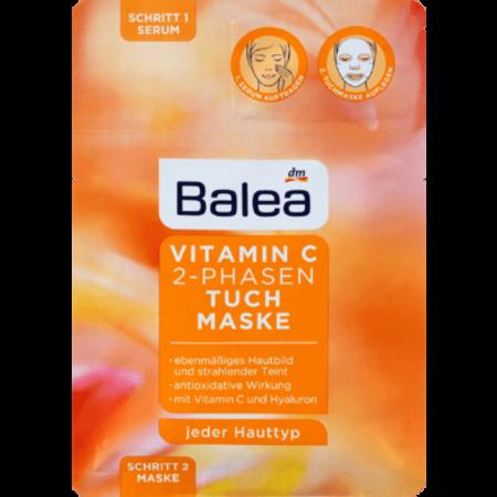 Balea Balea Doekmasker Vitamine C 2 Fasen 1 stuk