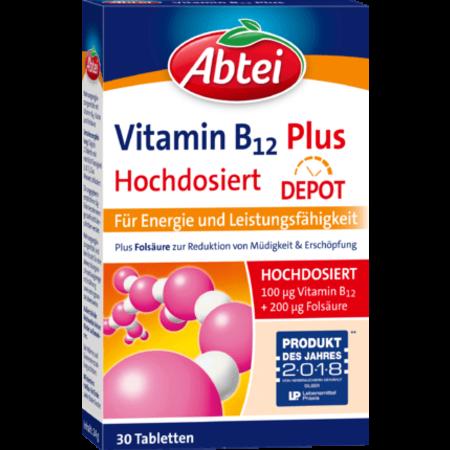 Abtei Abtei Vitamine B12 Plus Depot Tabletten 30 stuks