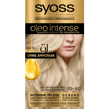 Syoss Syoss Oleo Intense Haarverf Kleur Licht Asblond 10-50