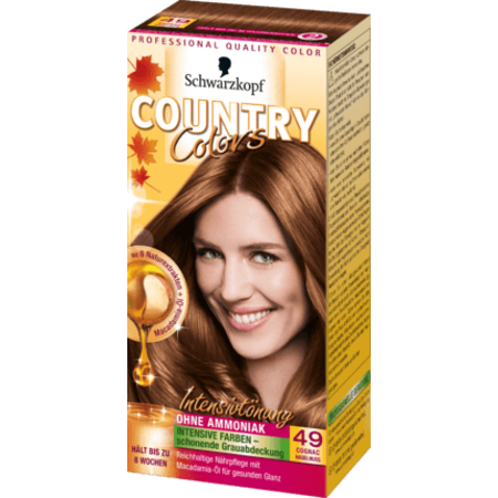 Schwarzkopf Country Colors  Schwarzkopf Country Colors Cognac Hazelnoot 49
