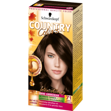 Schwarzkopf Country Colors  Schwarzkopf Country Colors Cacao Donker Goudbruin 71