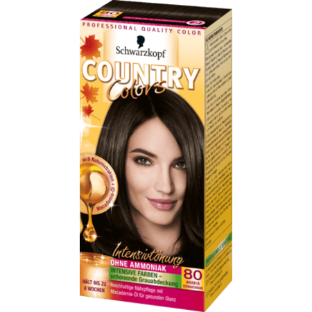 Schwarzkopf Country Colors  Schwarzkopf Country Colors Arabia Zwartbruin 80