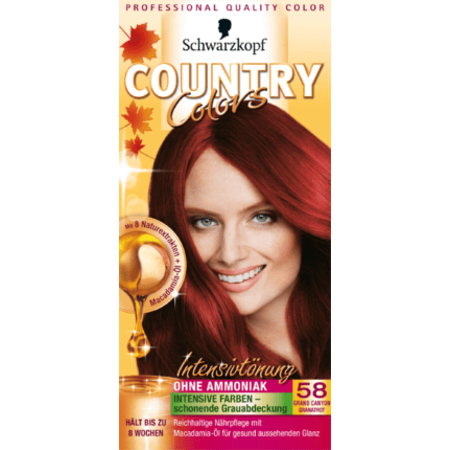 Schwarzkopf Country Colors  Schwarzkopf Country Colors Grand Canyon Granaatrood 58