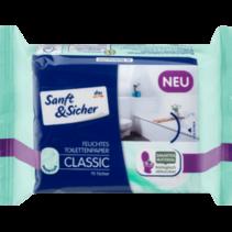 Sanft&Sicher Vochtig Toiletpapier Classic Sensitive Navulpak