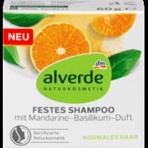 alverde Vaste Shampoo met Mandarijn- en Basilicumgeur