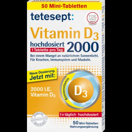 tetesept Vitamine D3-tabletten 50 stuks 9,1 gram
