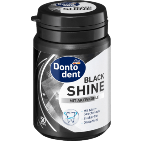 Dontodent Dontodent Black Shine Kauwgom 72 g