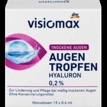 VISIOMAX Oogdruppels met 0,2% Hyaluronzuur