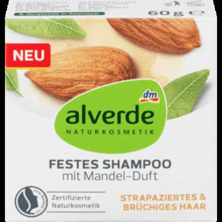 alverde alverde Vaste Shampoo Met Amandelgeur 60 gram